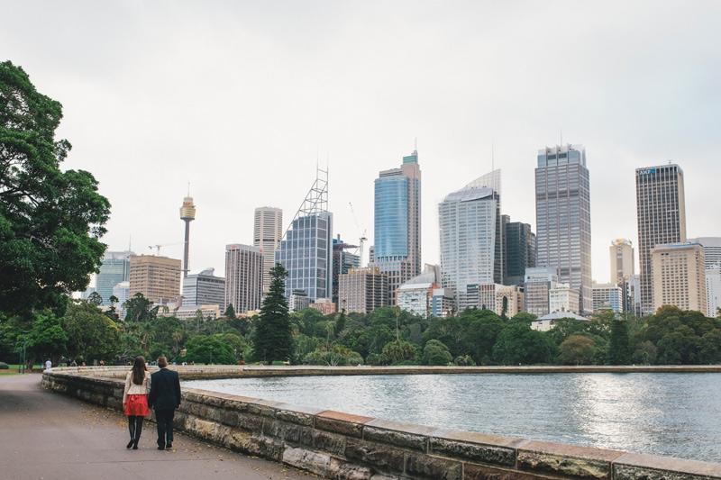 Phil & Nicole Royal Botanic Gardens Sydney Portrait Session