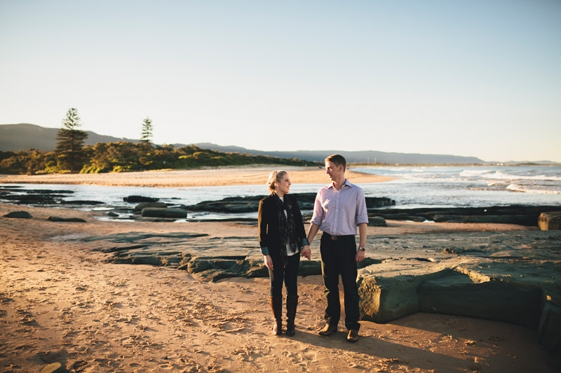 Bek & Andy Winter Portrait Session in Wollongong