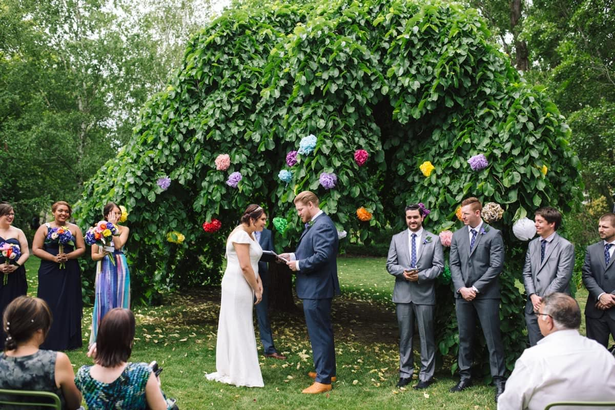 Spring Orange Wedding