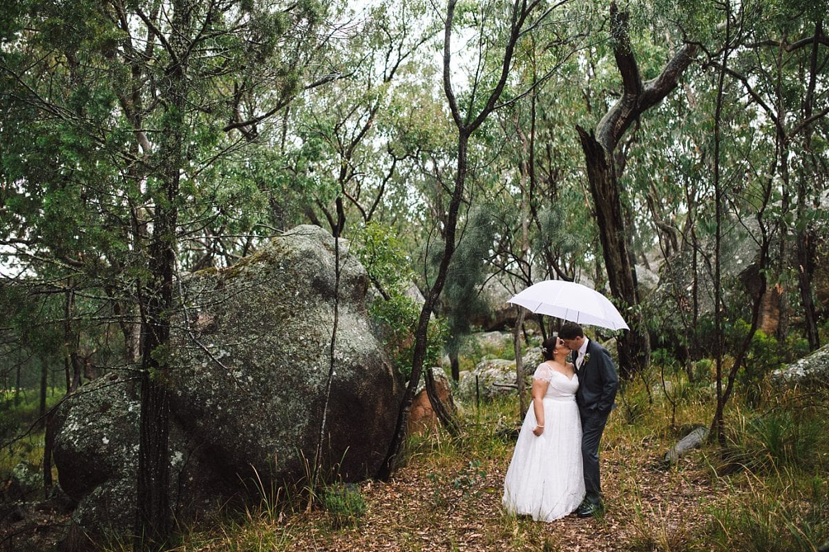 Bride and Groom at their Stanthorpe Wedding at the Happy Valley Retreat
