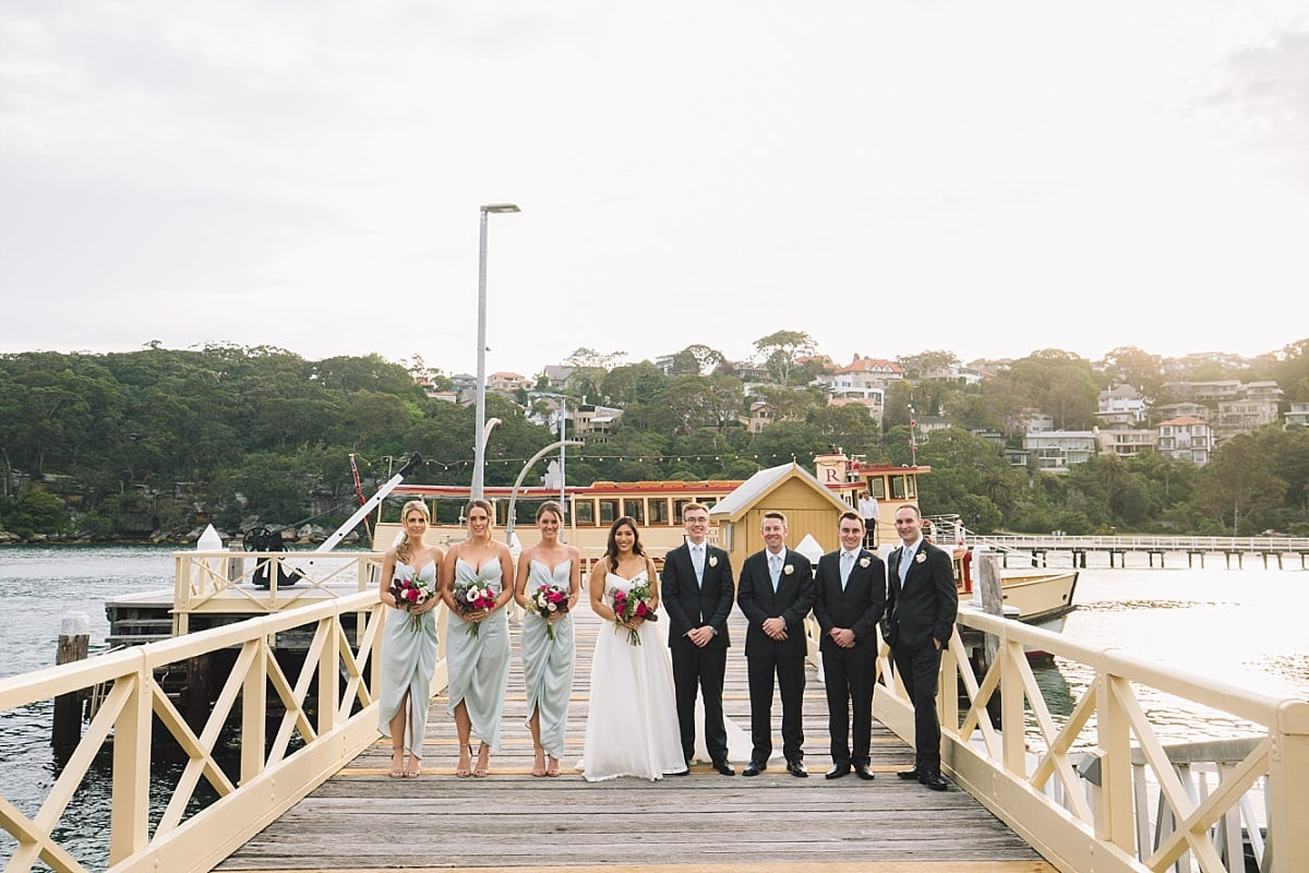 Bridal Party at Chowder Bay