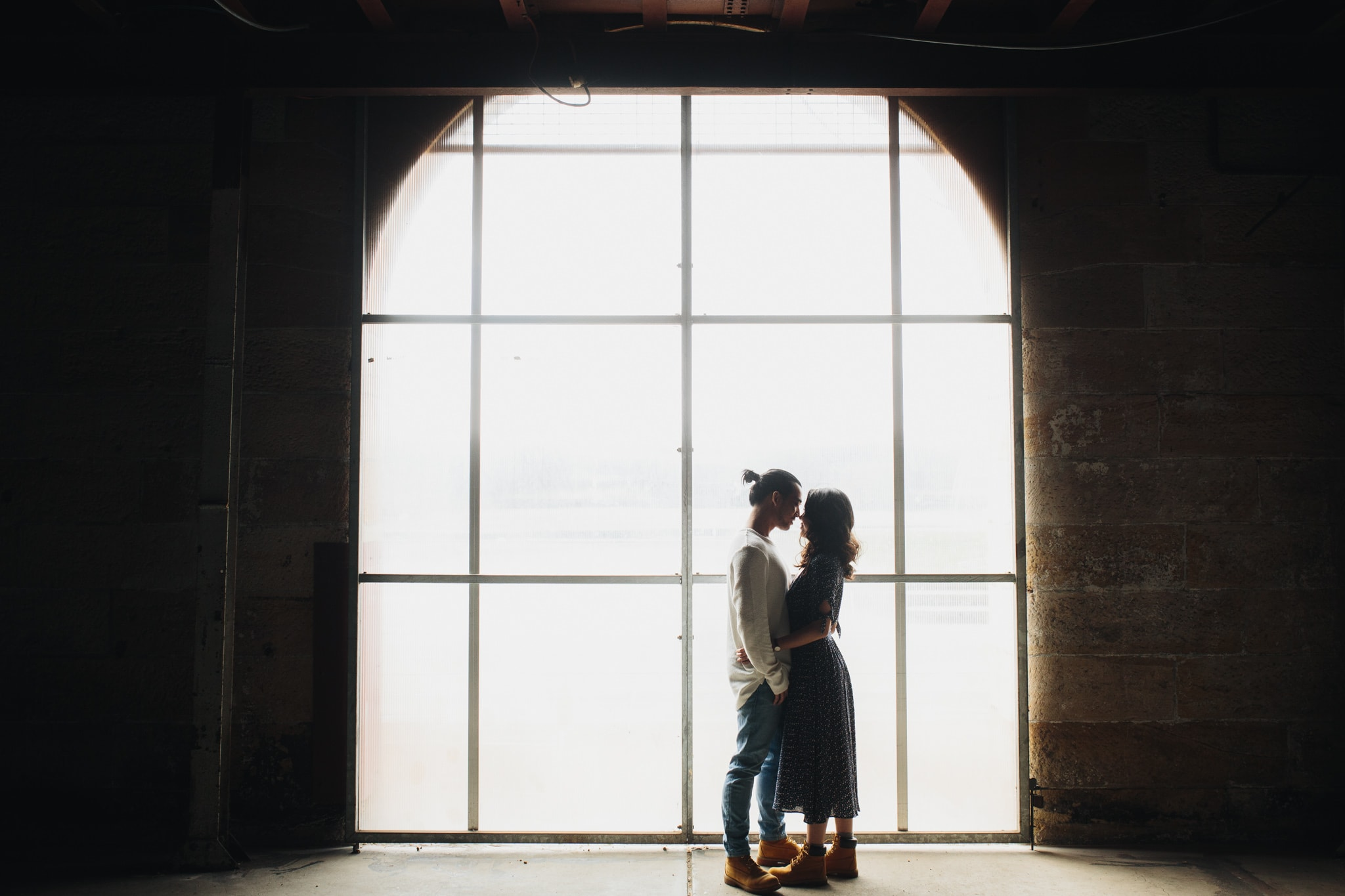 A silhouette photo on Cockatoo Island