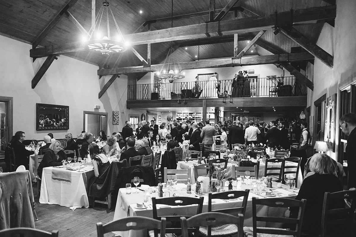 Centennial Vineyards Dining Room with wedding guests