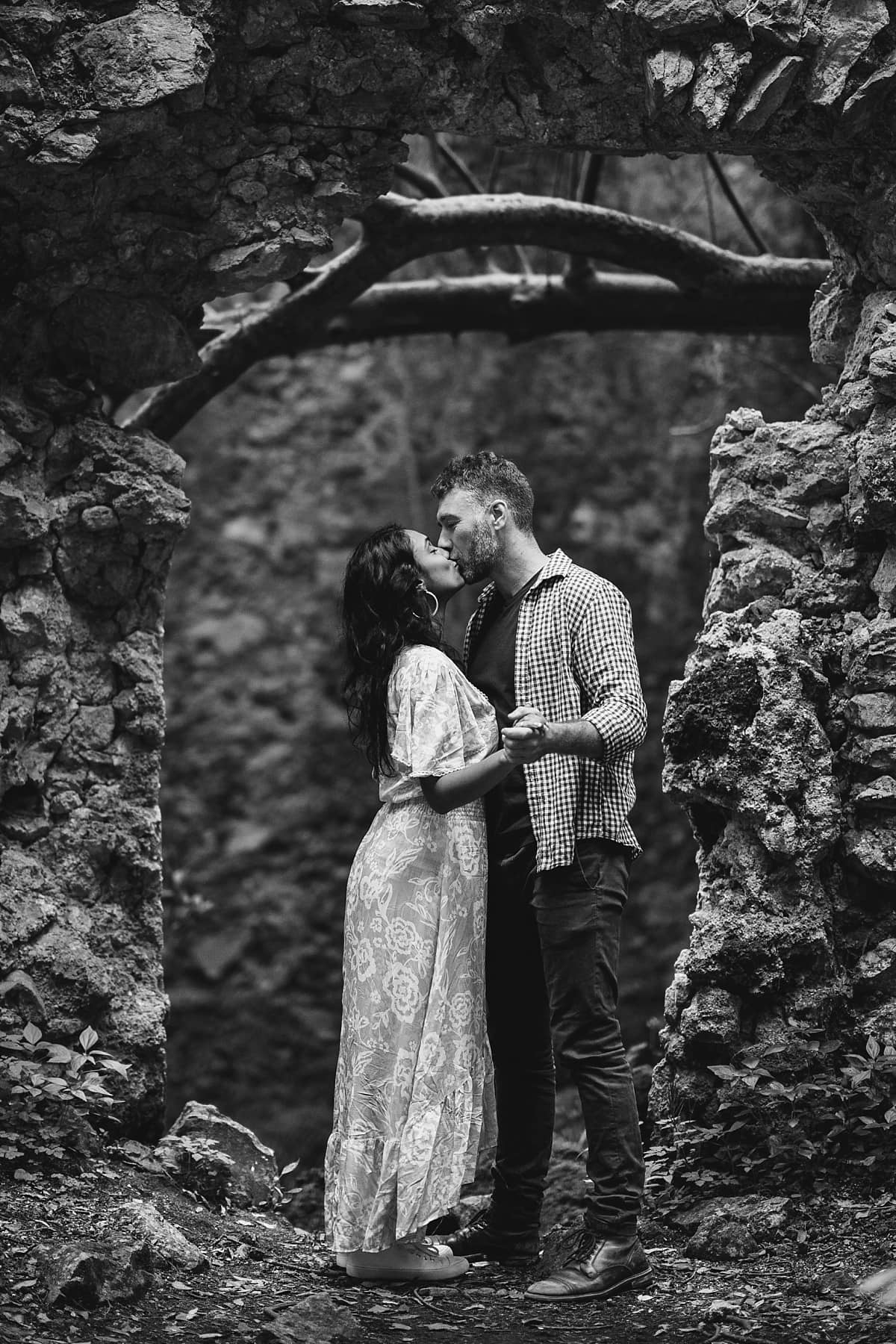 Inside the old mill during this Amalfi Coast Engagement