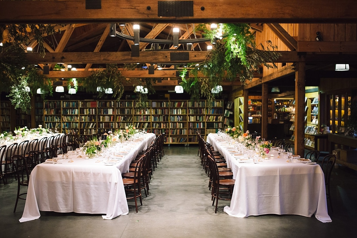 Image of the barn setup at Bendooley Estate
