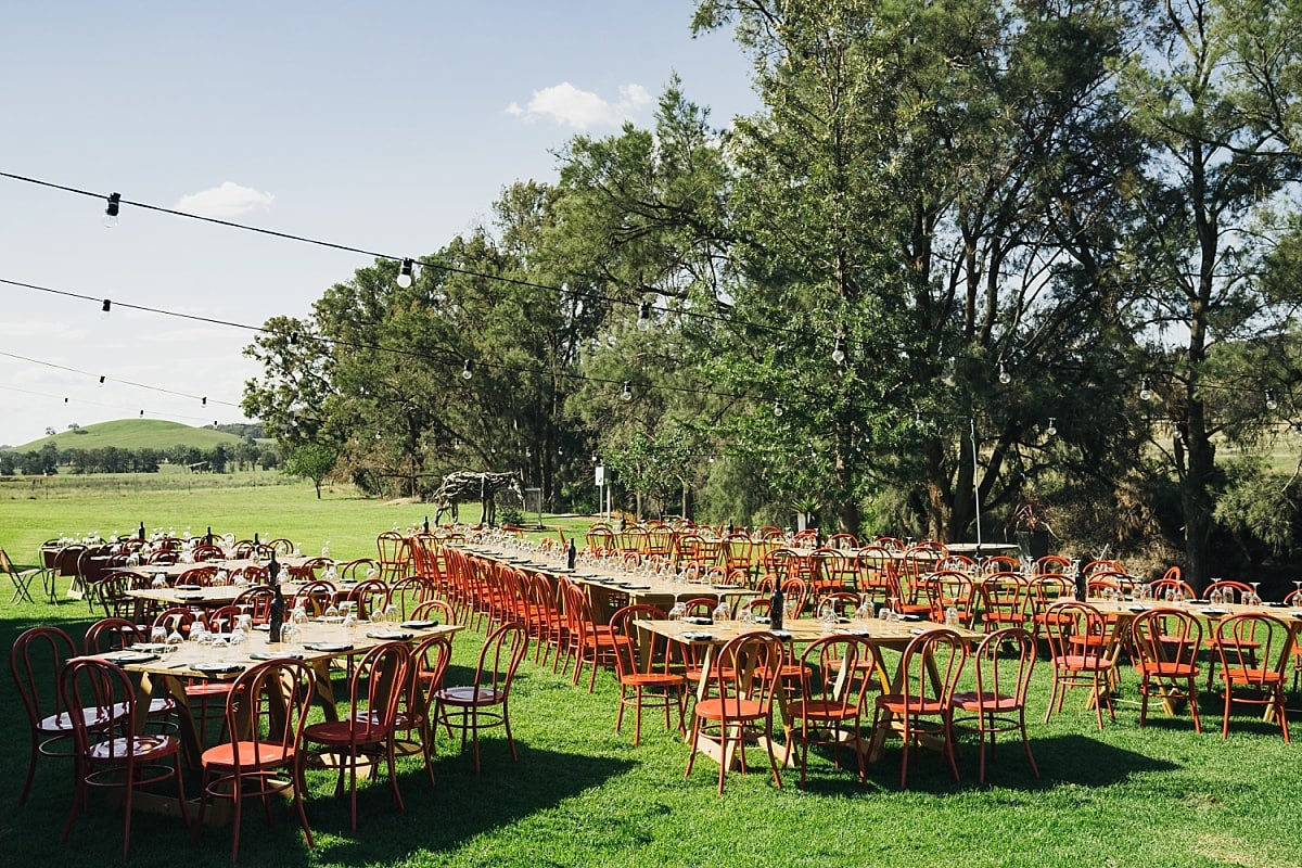 Wedding Reception setup at Burnbrae Wines