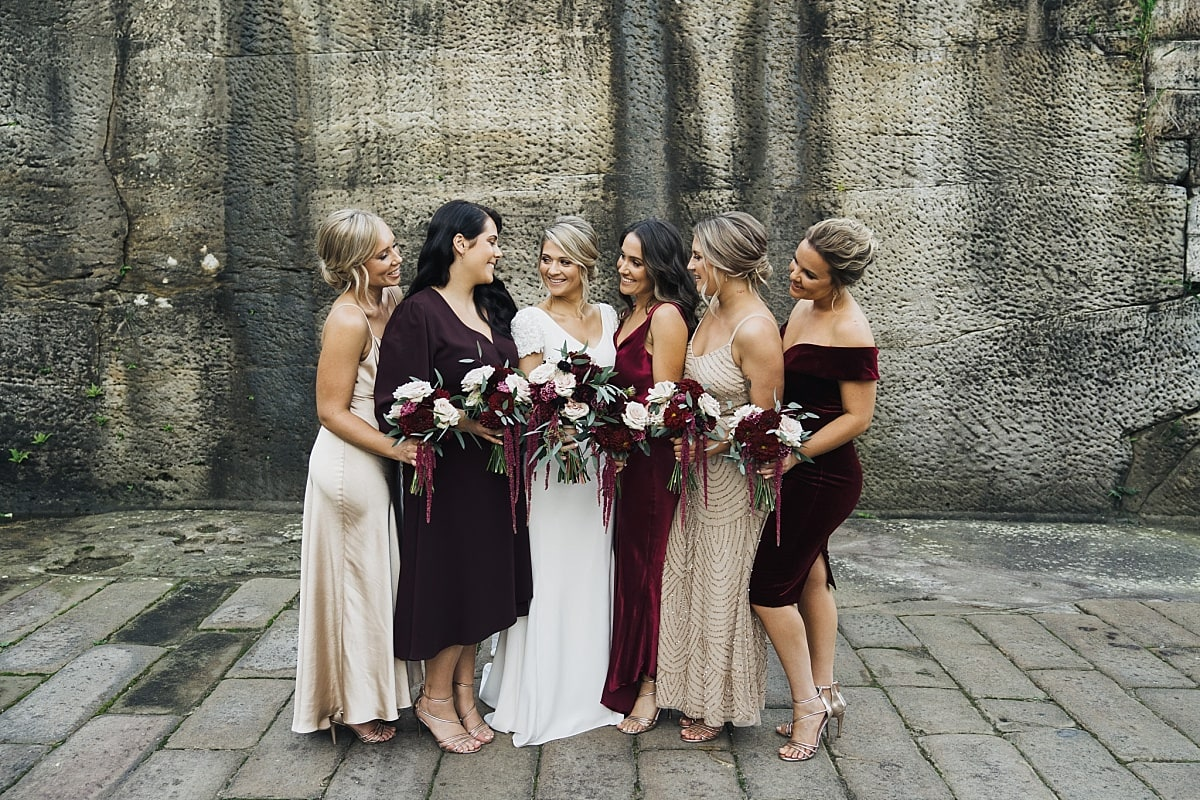 Bride and her Bridesmaids at Gunners Barracks