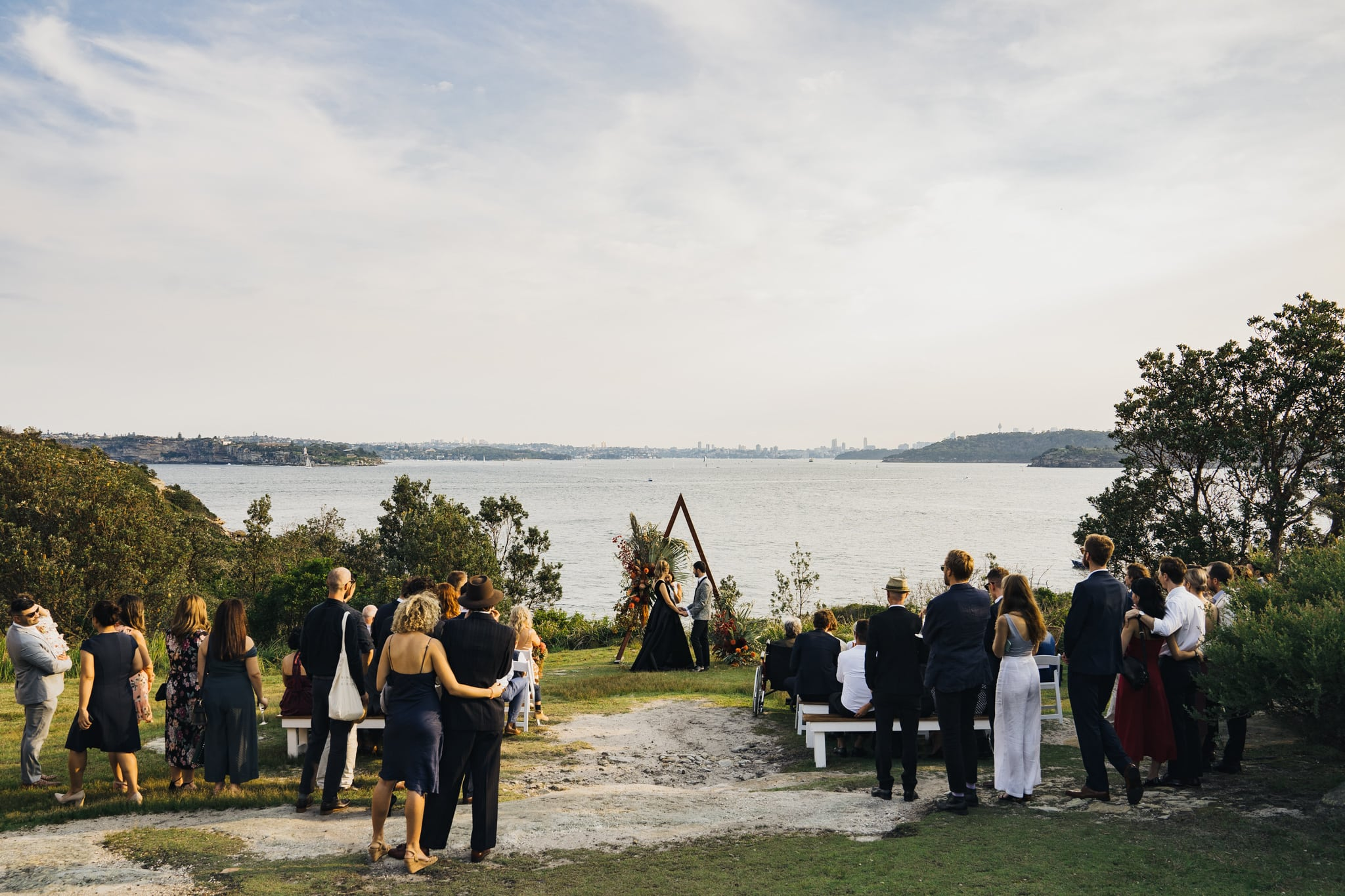 Bride and Groom during their gorgeous Q Station wedding ceremony