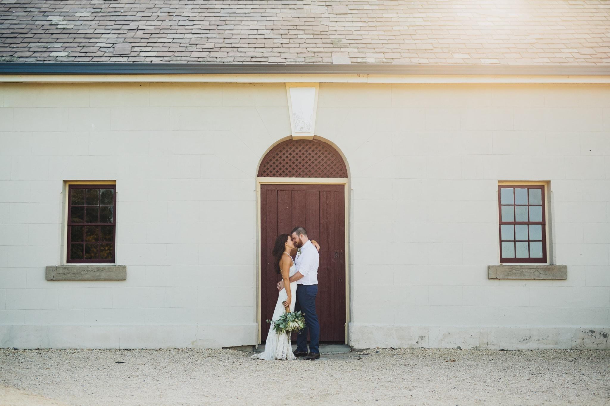 Bride and Groom at Wallalong House